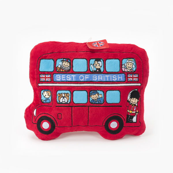 London Bus Cushion British Gift