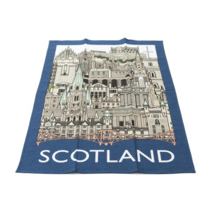 Back Scotland Landmark Tea Towel