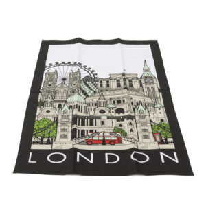 London Cityscape Tea Towel