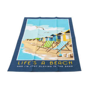 Lifes A Beach Tea Towel British Gift