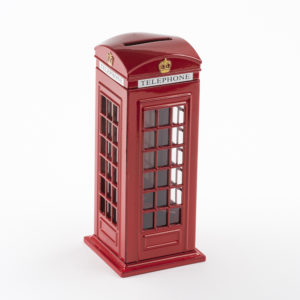 British Red Telephone Box Money Box