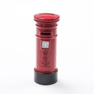British Red Post Box Money Box